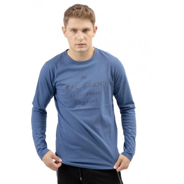 The Real Brand 07-500 μπλούζα μπλε