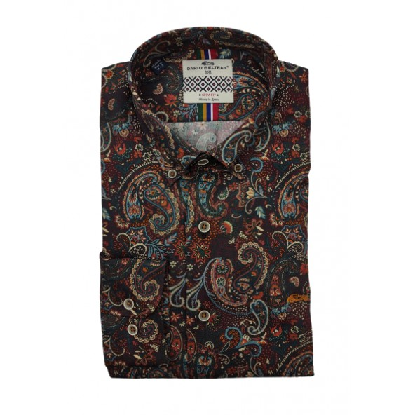Dario beltran 6LVG PASAR 1740 shirt bordeaux