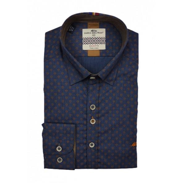 Dario beltran 6LTG NOVALES 1481 shirt dark blue