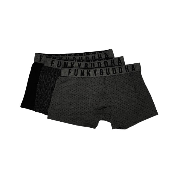 Funky buddha FBM004-032-10 Multi color boxer 3pack