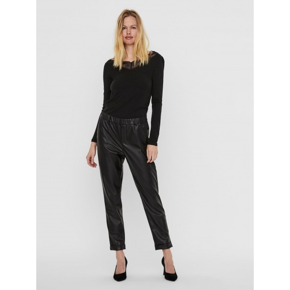 Vero moda 10237236 Μαύρο παντελόνι