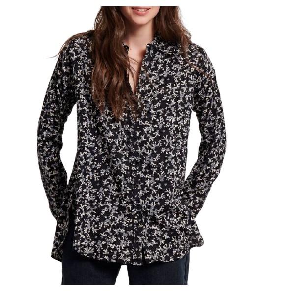 Funky buddha FBL004-111-05 Μαύρο πουκάμισο