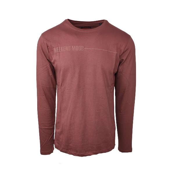 Splendid 46-206-024 long sleeve t-shirt rusty red