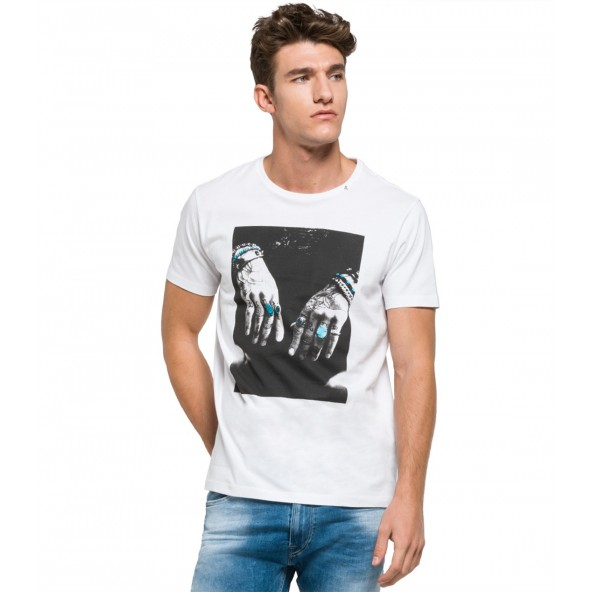 Replay M3266.000 2660 T-shirt λευκό