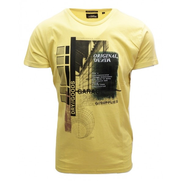Garage 55 gam223-04119 Yellow t-shirt