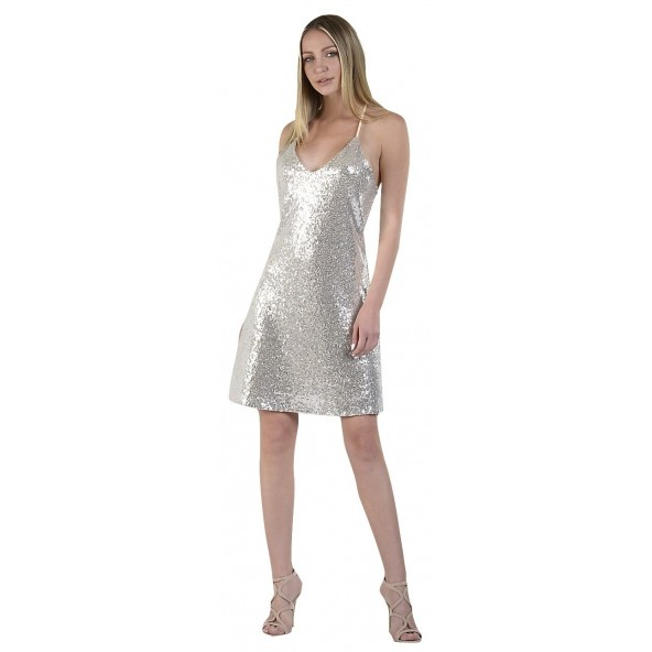 Paranoia 12309 Ασημί Φόρεμα