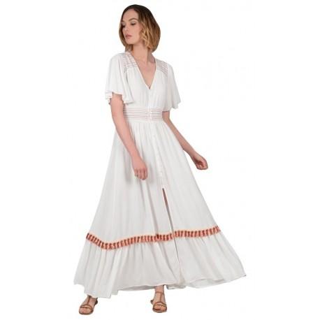 MOLLY BRACKEN N10E19 WHITE Φόρεμα