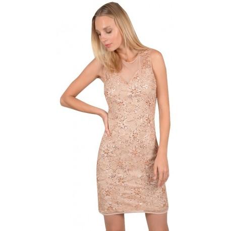 bdd08ddd5f5b MOLLY BRACKEN W712E19 GOLD PINK Φόρεμα - MDSfashion