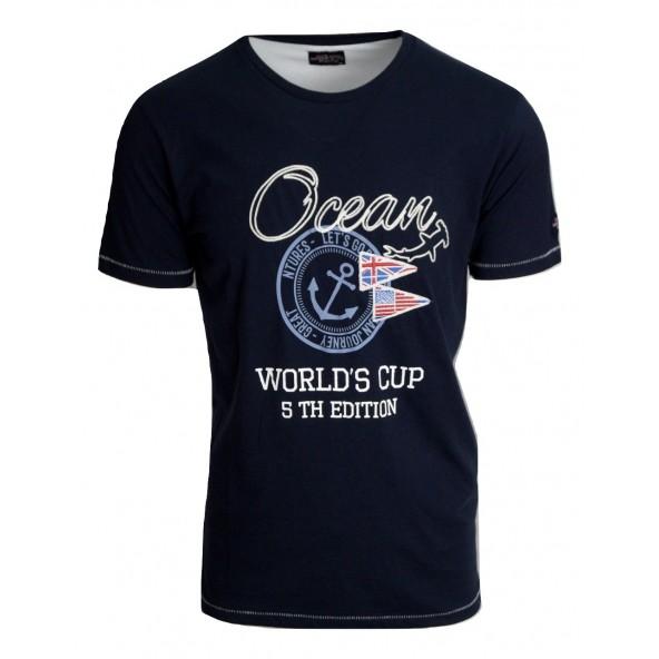 Ocean shark 211003391 navy t-shirt