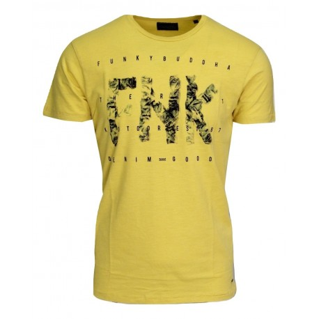 Funky buddha fbm032-04119 yellow t-shirt