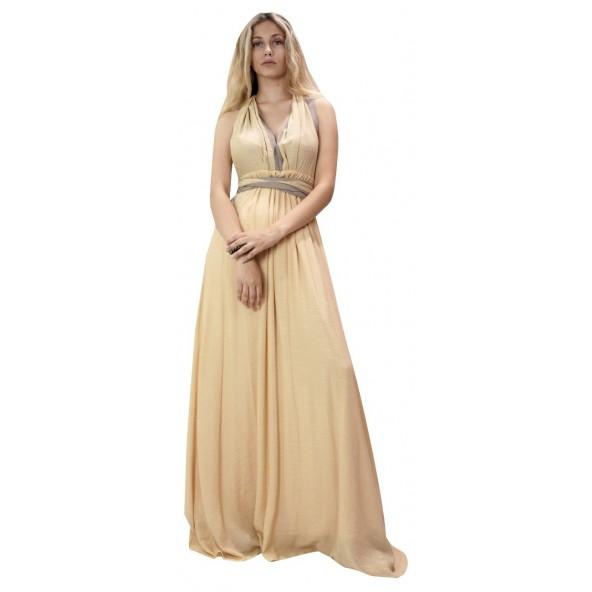 Moutaki 19.07.06 Κίτρινο Φόρεμα