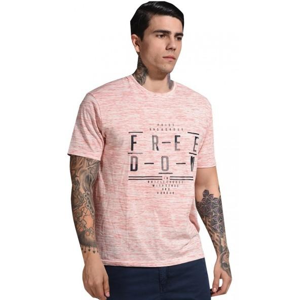 Splendid 41-206-043 lt pink melanze t-shirt.