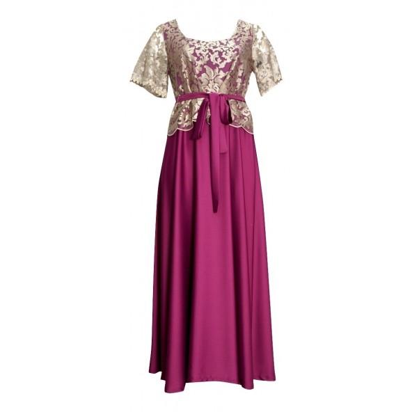 Fueguina 119-60230303 φόρεμα βιολετί