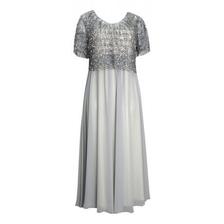 Cecilia personal S19P114 φόρεμα ασημί