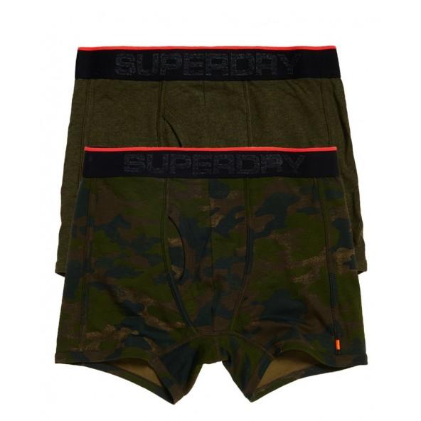 Superdry short boxer dbl pack M3100019A khaki/camo