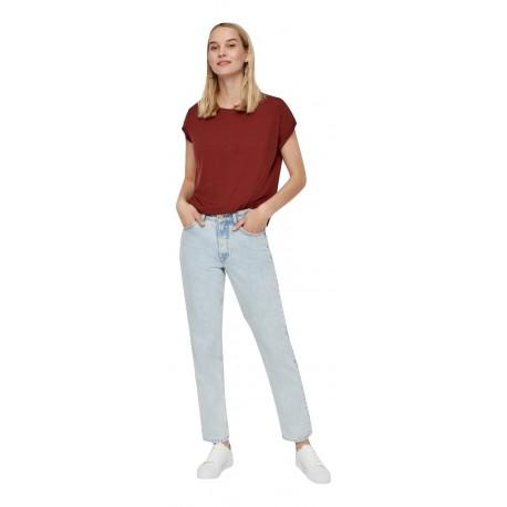 Vero moda 10187159 Madder Brown Μπλούζα