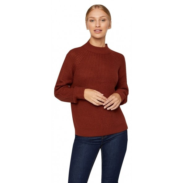 Vero moda 10220664 Madder Brown Πλεκτό