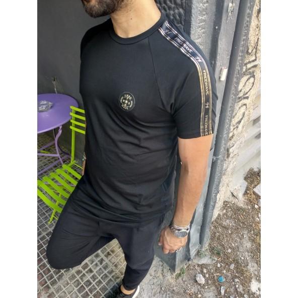 Free wave 92101 black t- shirt