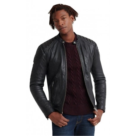 Superdry M5000010A-02A LEATHER JACKET