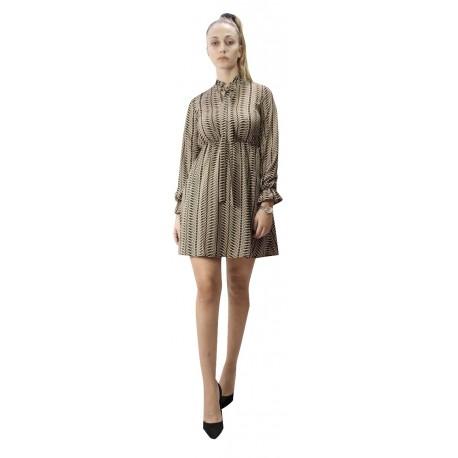 Vero moda 10221585 black/ birch Φόρεμα
