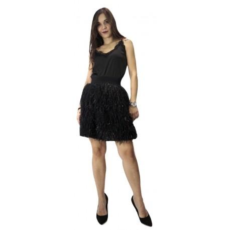 Derpouli 1.10.37179 Μαύρο Σατέν μπλουζάκι