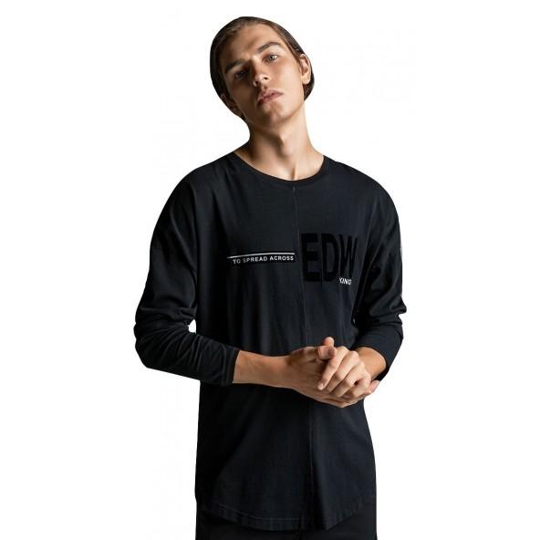 EDWARD 19.1.1.01.336 μπλούζα μαύρη