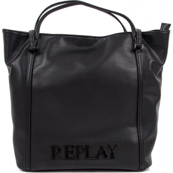 Replay Shopper Bag FW3836.000 A0132D.098 Μαύρη