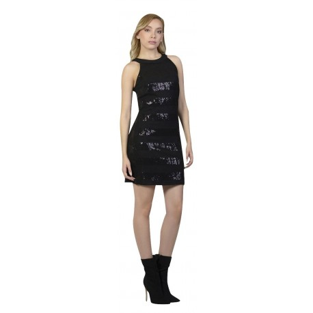 Paranoia 12781 Φορεμα Πλεκτο Μαυρο Παγετα