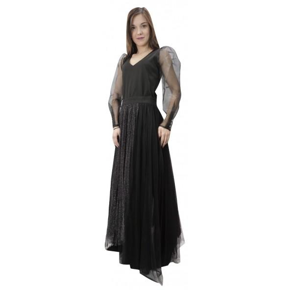 Passager 38084 φούστα ασημί/μαύρο