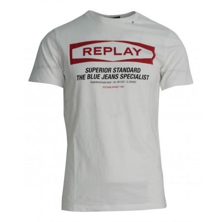 Replay M3022.000.22432.001 Μπλούζα άσπρη