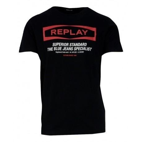 Replay Μ3022.000.22432.098 Μπλούζα Μαύρη
