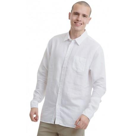 Funky buddha FBM00103005 Πουκάμισο Λευκό