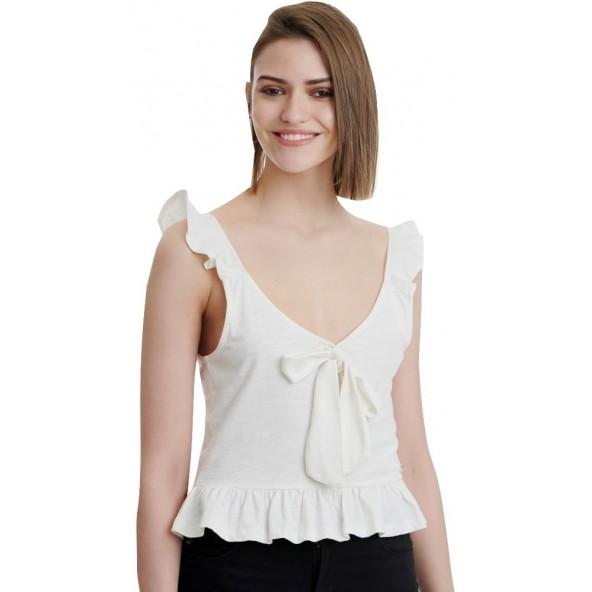 Funky buddha FBL00115304 Μπλούζα λευκή