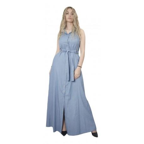 Moutaki 20.07.71 Φόρεμα γαλάζιο
