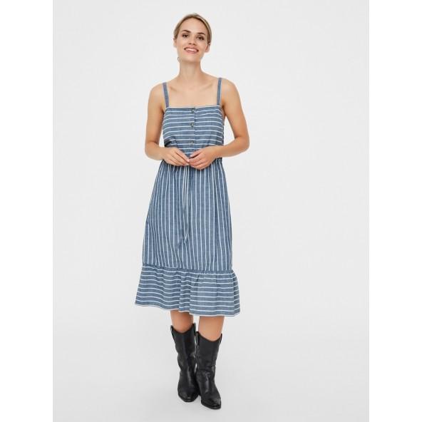 Vero moda 10227804 φορεμα μπλε