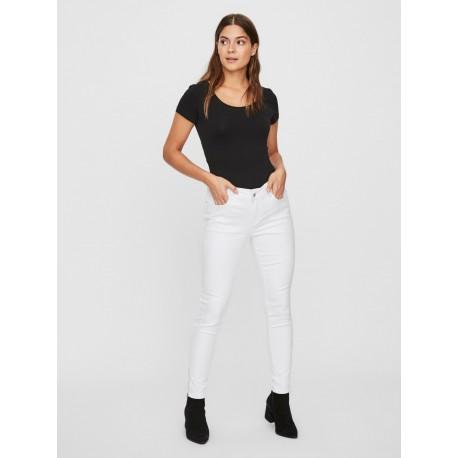 Vero moda 10209940 παντελόνι άσπρο