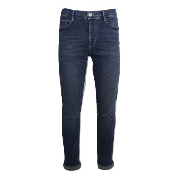 NAVY AND GREEN 24YI.188/4 JEAN BLUE