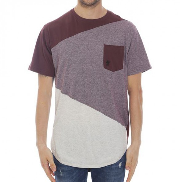 Smart 35-206-021 SoulStar μπλουζάκι τρίχρωμο μπορντώ
