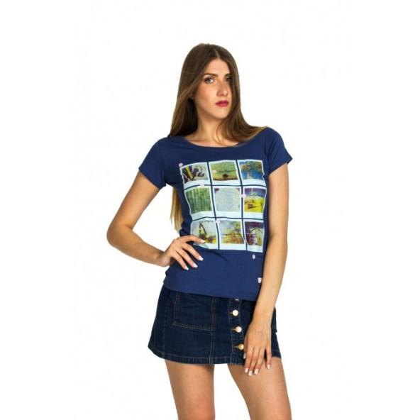 Biston 37-106-001 Polaroid t-shirt indigo