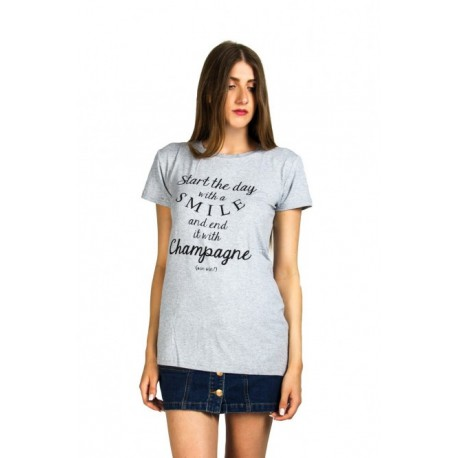 Smart 37-106-007 Champagne t-shirt γκρι ανοιχτό