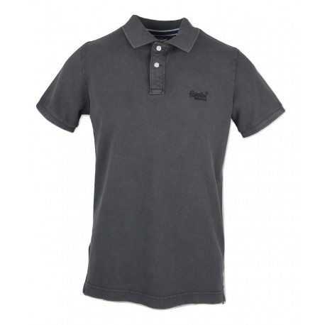 Superdry M1110014A- 06A Polo ανθρακί