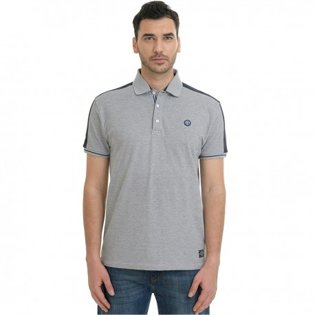 Splendid 43-206-030 polo shirt grey mel