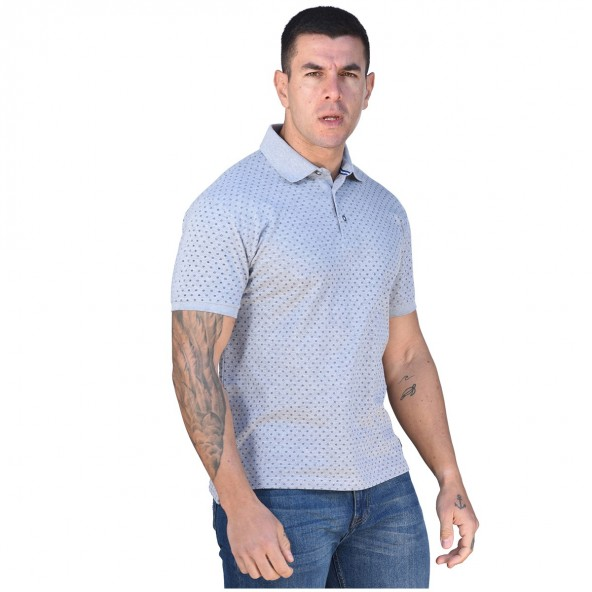 Biston 43-206-031 polo shirt grey mel