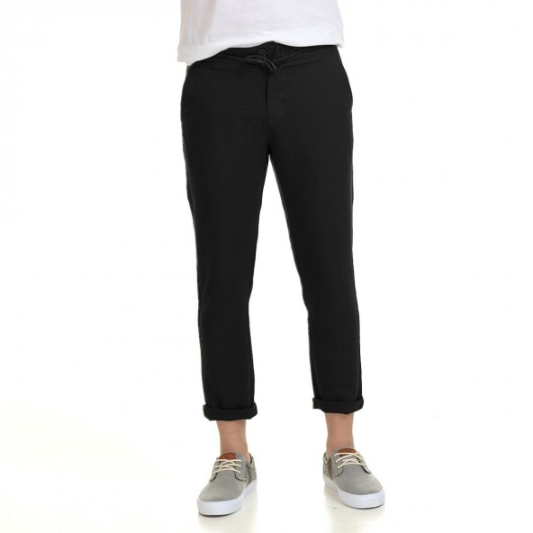 Biston 43-241-006 παντελόνι λινό μαύρο