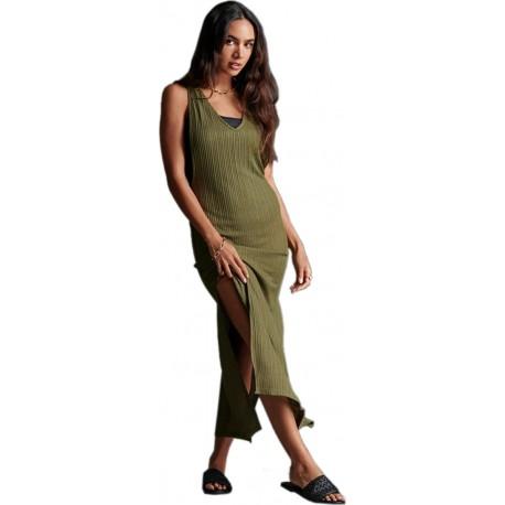 Superdry W3010024A-6SY nevada rib beach dress capulet olive