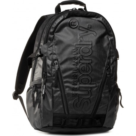 Superdry M9110026A-02A tarp backpack black