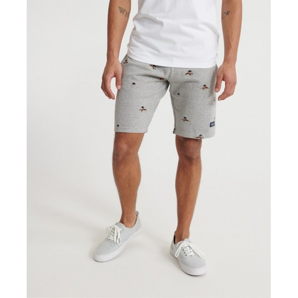 Superdry M7110009A-9ST aeo short silver glass feeder