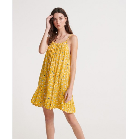 Superdry W8010094A-53L Daisy Beach Dress yellow floral