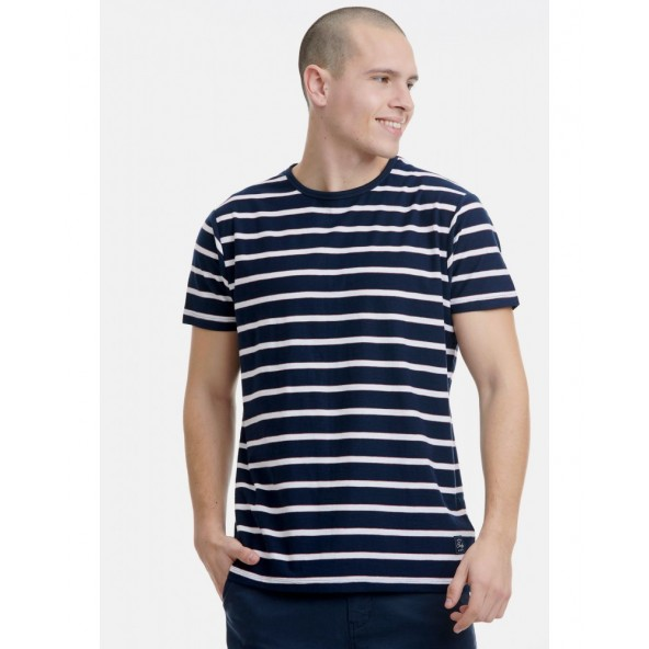 Funky buddha FBM00106204 t-shirt strips navy