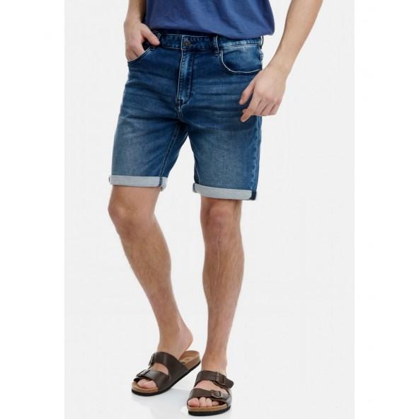 Funky buddha FBM00106703 denim shorts md blue